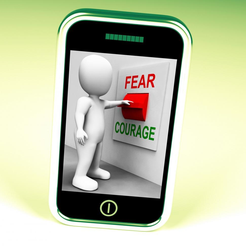 Download Free Stock HD Photo of Courage Fear Switch Shows Afraid Or Bold Online
