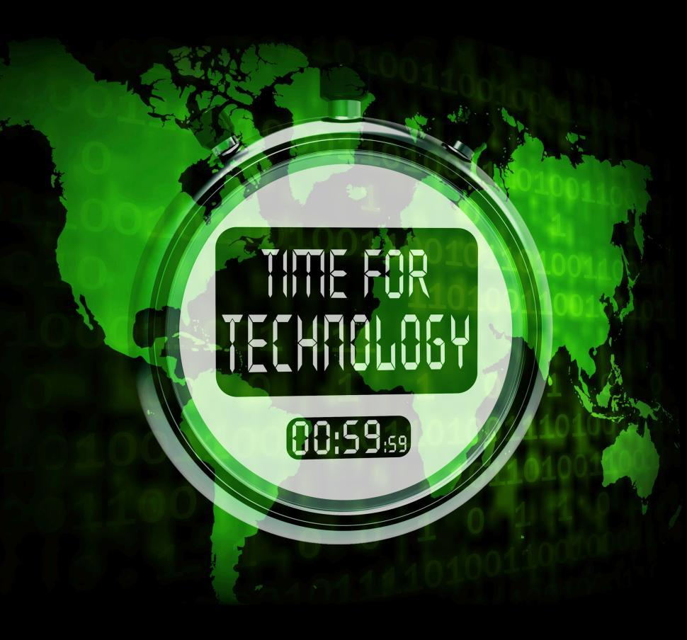 Download Free Stock HD Photo of Technology Watch Touch Screen Shows Innovation Improvement Or Hi Online