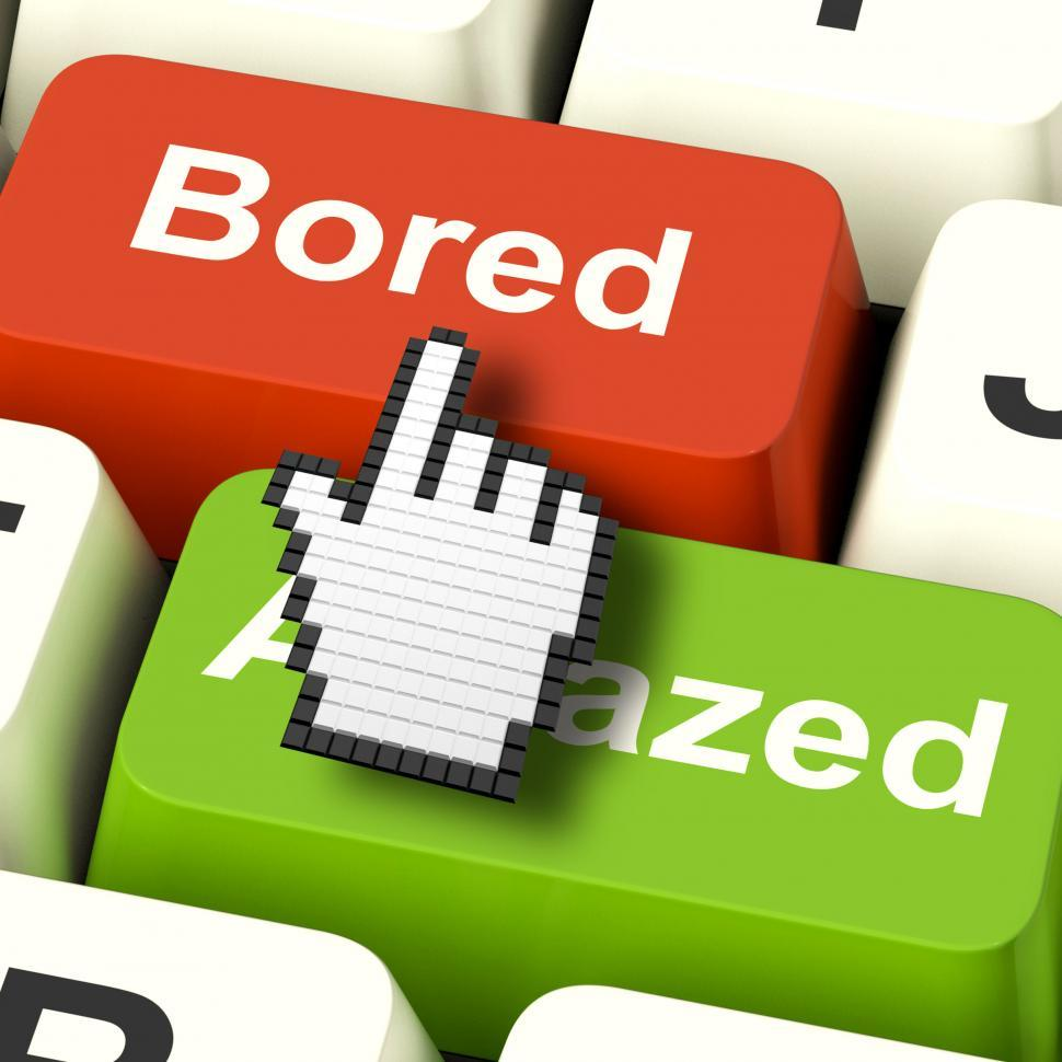 Download Free Stock HD Photo of Bored Boring Computer Shows Boredom Or Amaze Reaction Online