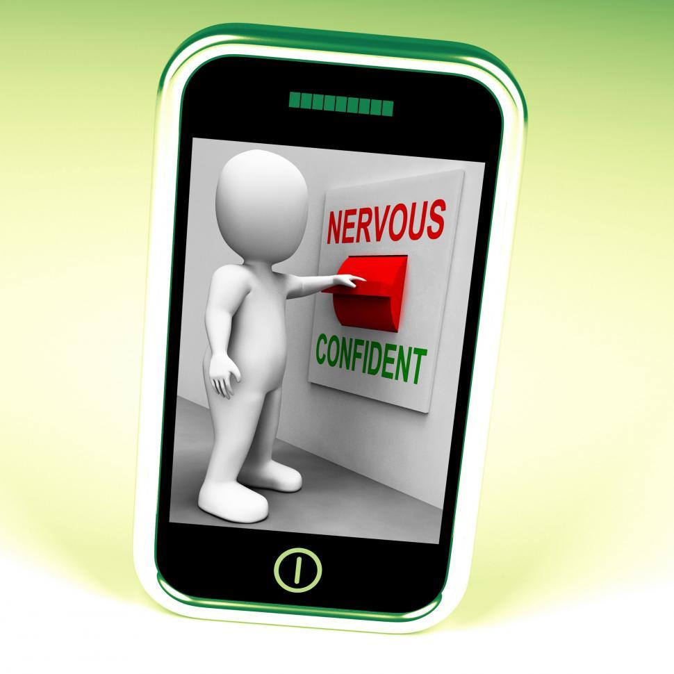 Download Free Stock HD Photo of Nervous Confident Switch Shows Nerves Or Confidence Online