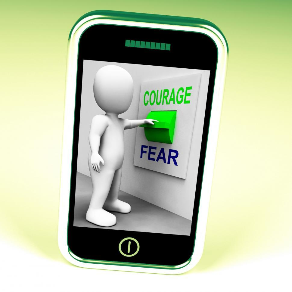 Download Free Stock HD Photo of Courage Fear Switch Shows Afraid Or Courageous Online