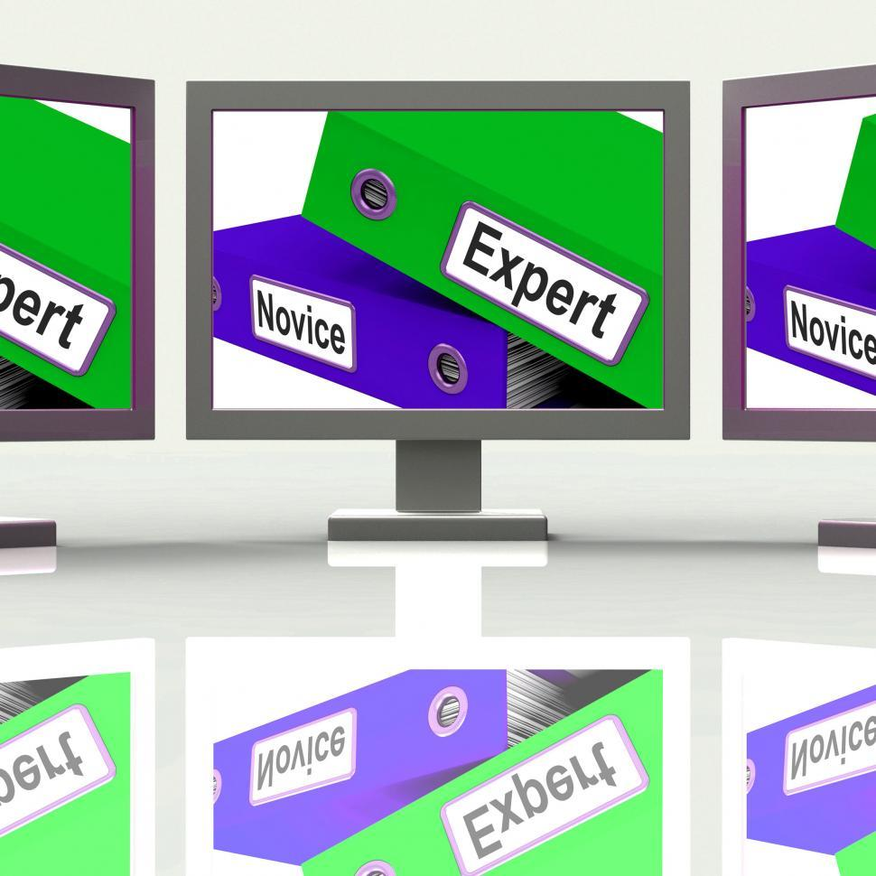 Download Free Stock HD Photo of Expert Novice Screen Mean Learner And Advanced Online