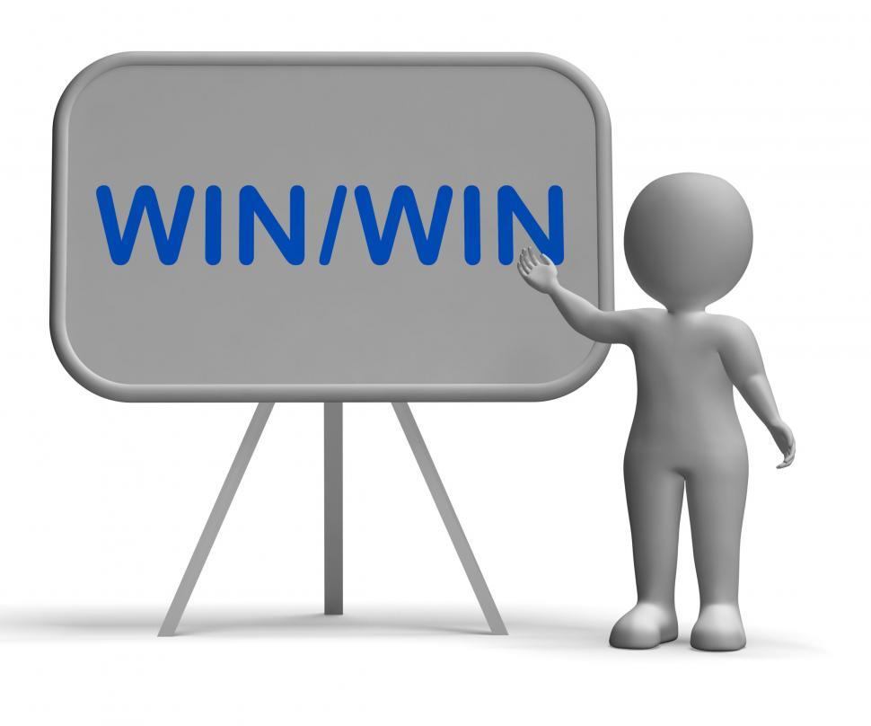 Download Free Stock HD Photo of Win Win Whiteboard Showing Strategy Benefits Both Online