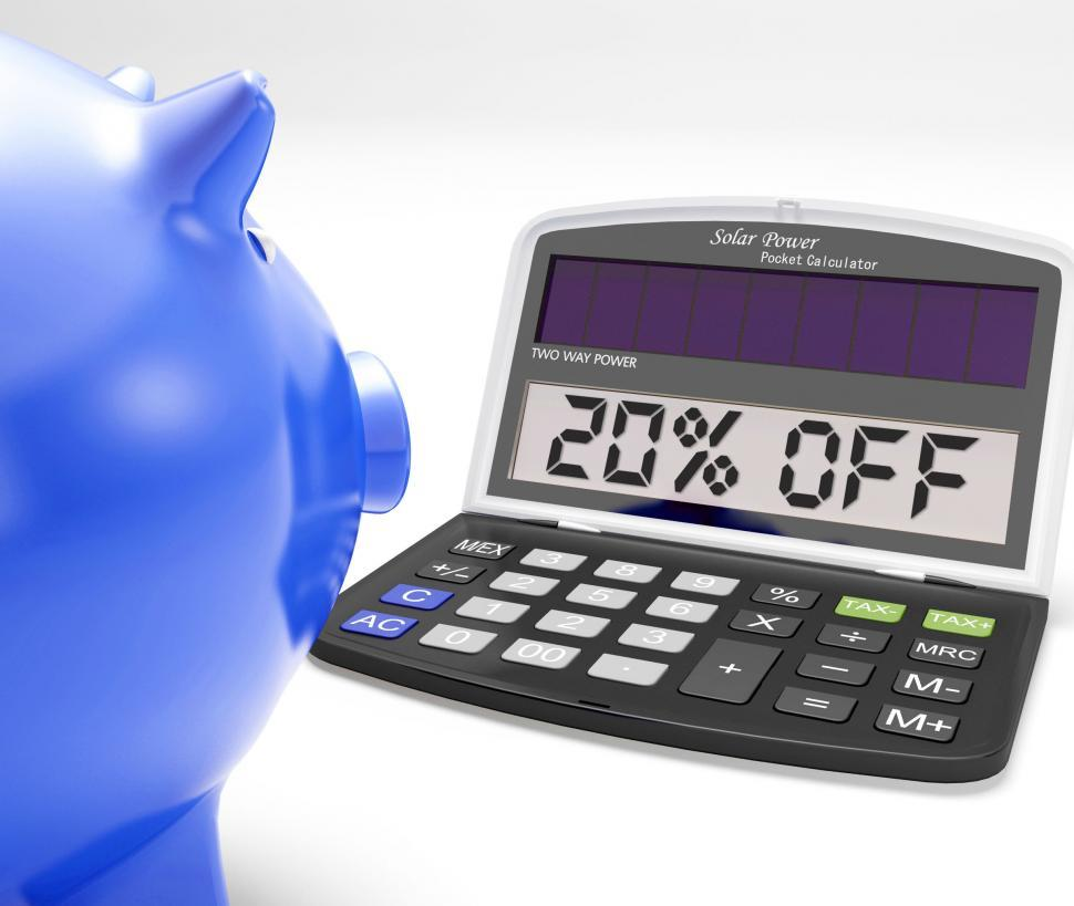 Twenty Percent Off Calculator Means Price Cut