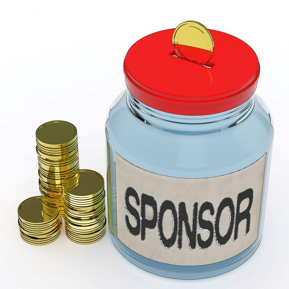 Download Free Stock HD Photo of Sponsor Jar Means Donating Helping Or Aid Online