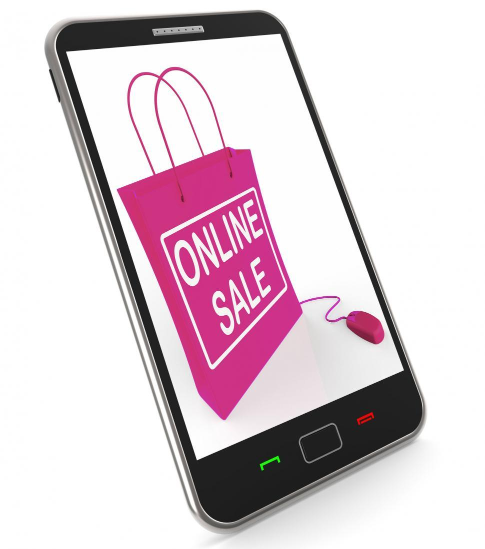 Download Free Stock HD Photo of Online Sale Bag Shows Selling and Buying on the Internet Online