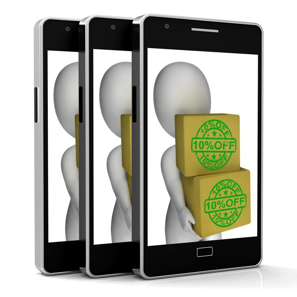Download Free Stock HD Photo of Ten Percent Off Phone Show 10 Lower Price Online