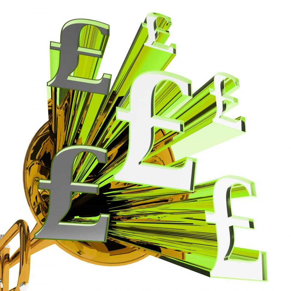 Download Free Stock HD Photo of Pound Signs Means Currency Of Great Britain Online