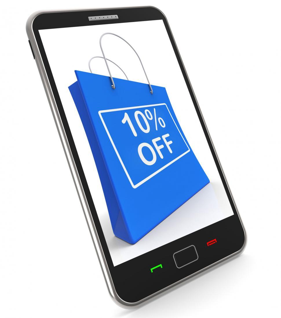 Download Free Stock HD Photo of Shopping Bag Shows Sale Discount Ten Percent Off 10 Online