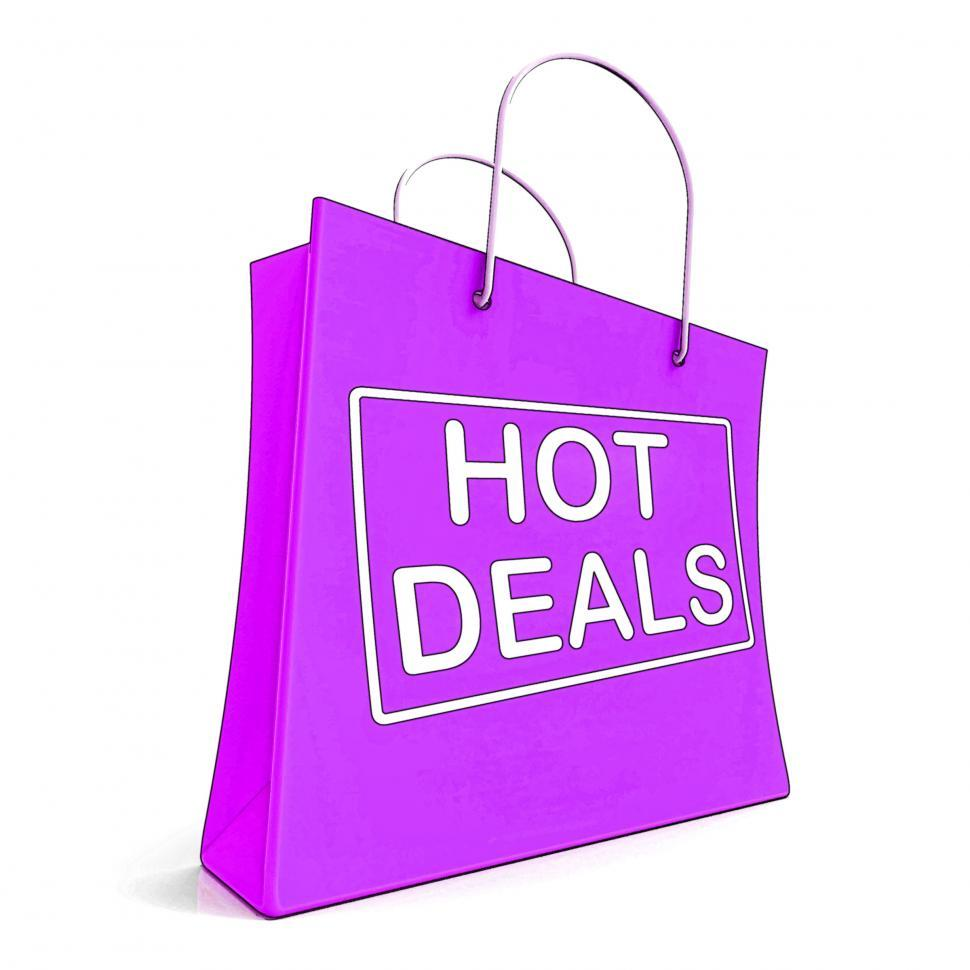 Download Free Stock HD Photo of Hot Deals On Shopping Bags Shows Bargains Sale And Saving Online