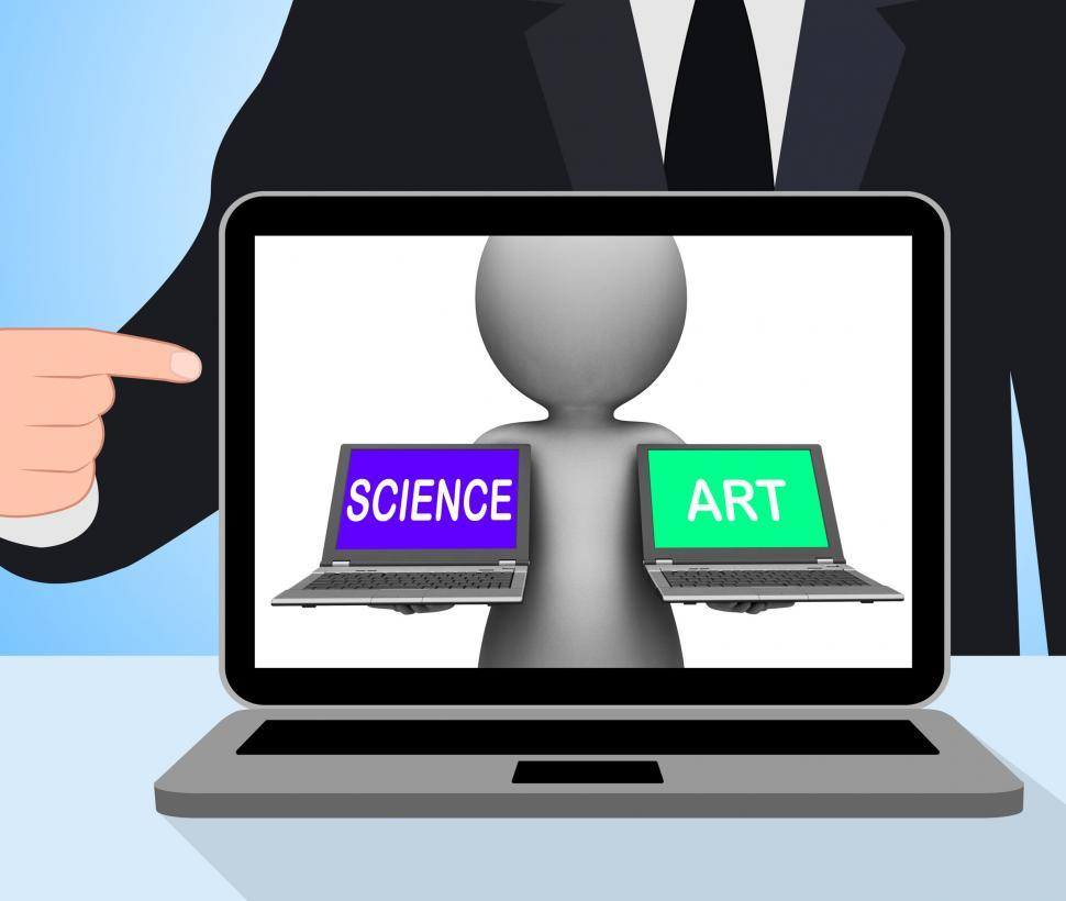 Download Free Stock HD Photo of Science Art Laptops Displays Scientific Or Artistic Online
