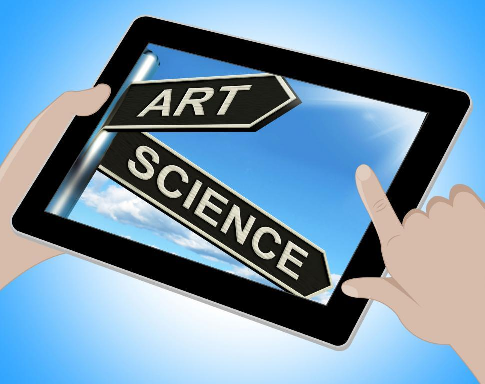 Download Free Stock HD Photo of Art Science Tablet Means Creative Or Scientific Online