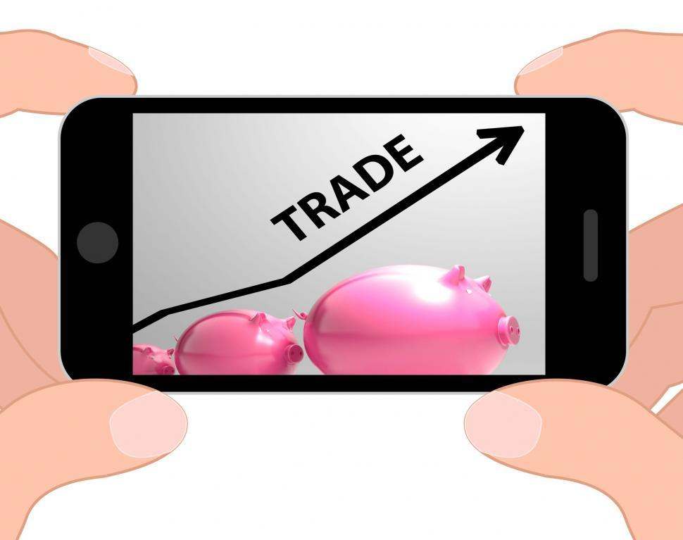 Download Free Stock HD Photo of Trade Graph Displays Increase In Buying And Selling Online