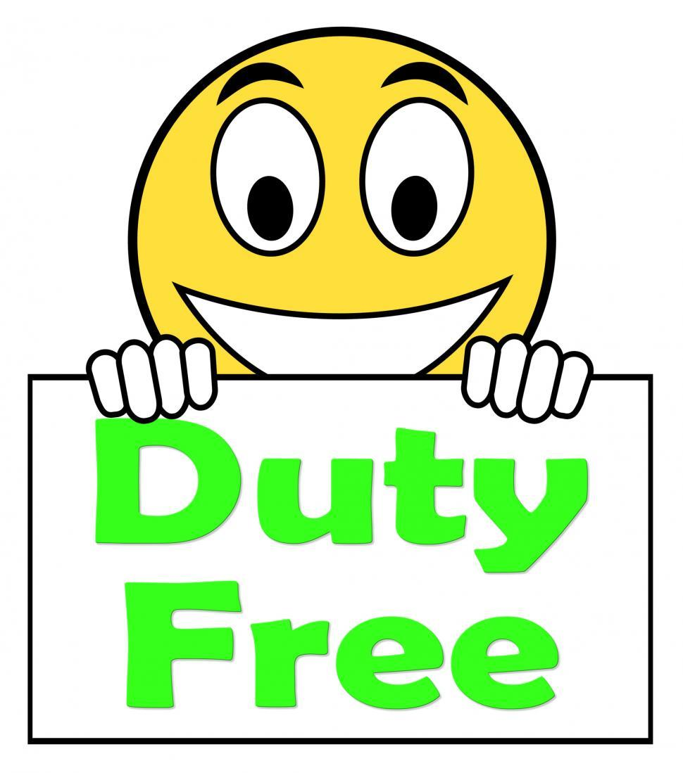 Download Free Stock HD Photo of Duty Free On Sign Shows Tax Free Purchases Online
