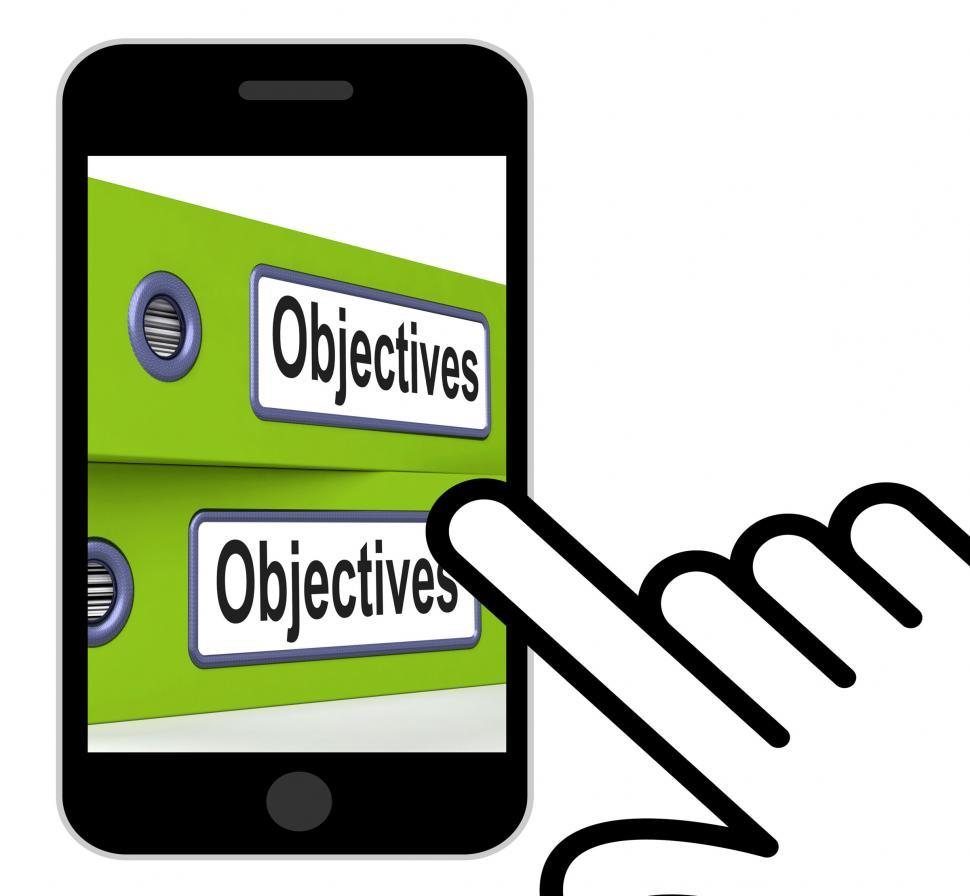 Download Free Stock HD Photo of Objectives Folders Displays Business Goals And Targets Online