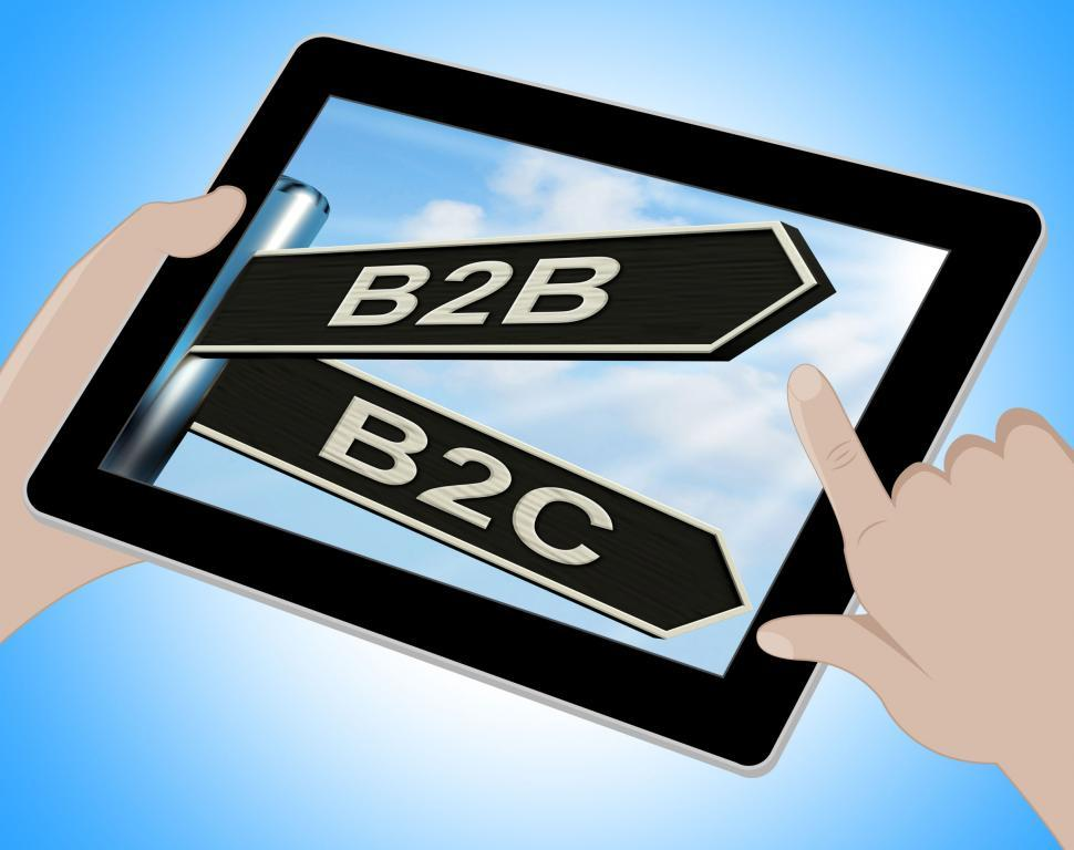 Download Free Stock HD Photo of B2B B2C Tablet Means Business Partnership And Relationship With  Online
