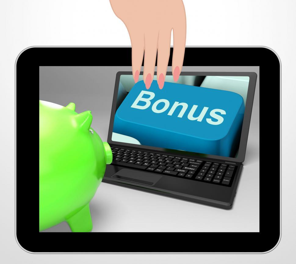 Download Free Stock HD Photo of Bonus Key Displays Incentives And Extras On Web Online