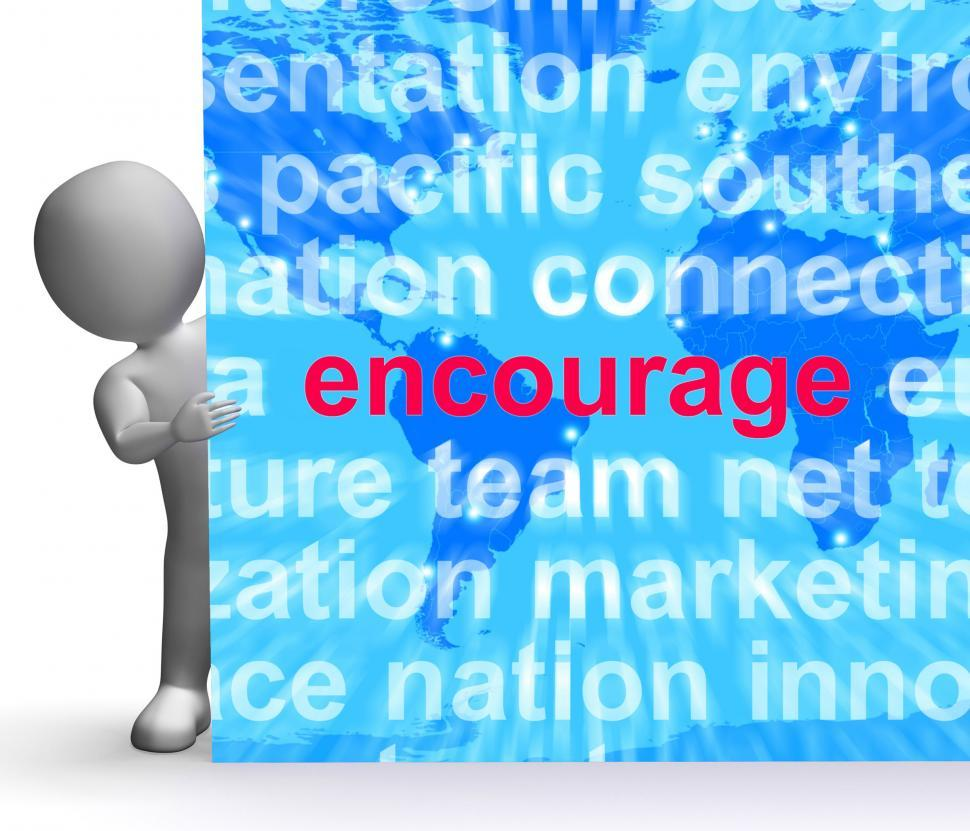 Download Free Stock HD Photo of Encourage Word Cloud Sign Shows Promote Boost Encouraged Online