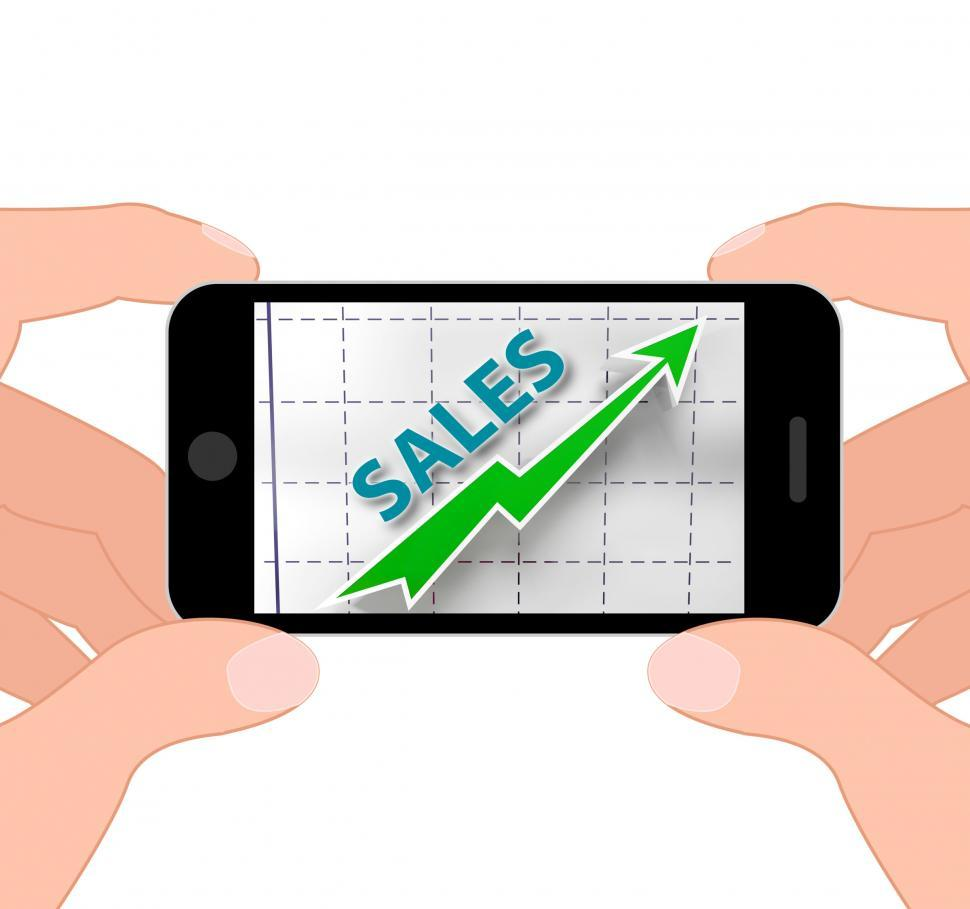 Download Free Stock HD Photo of Sales Graph Displays Increased Selling And Earnings Online