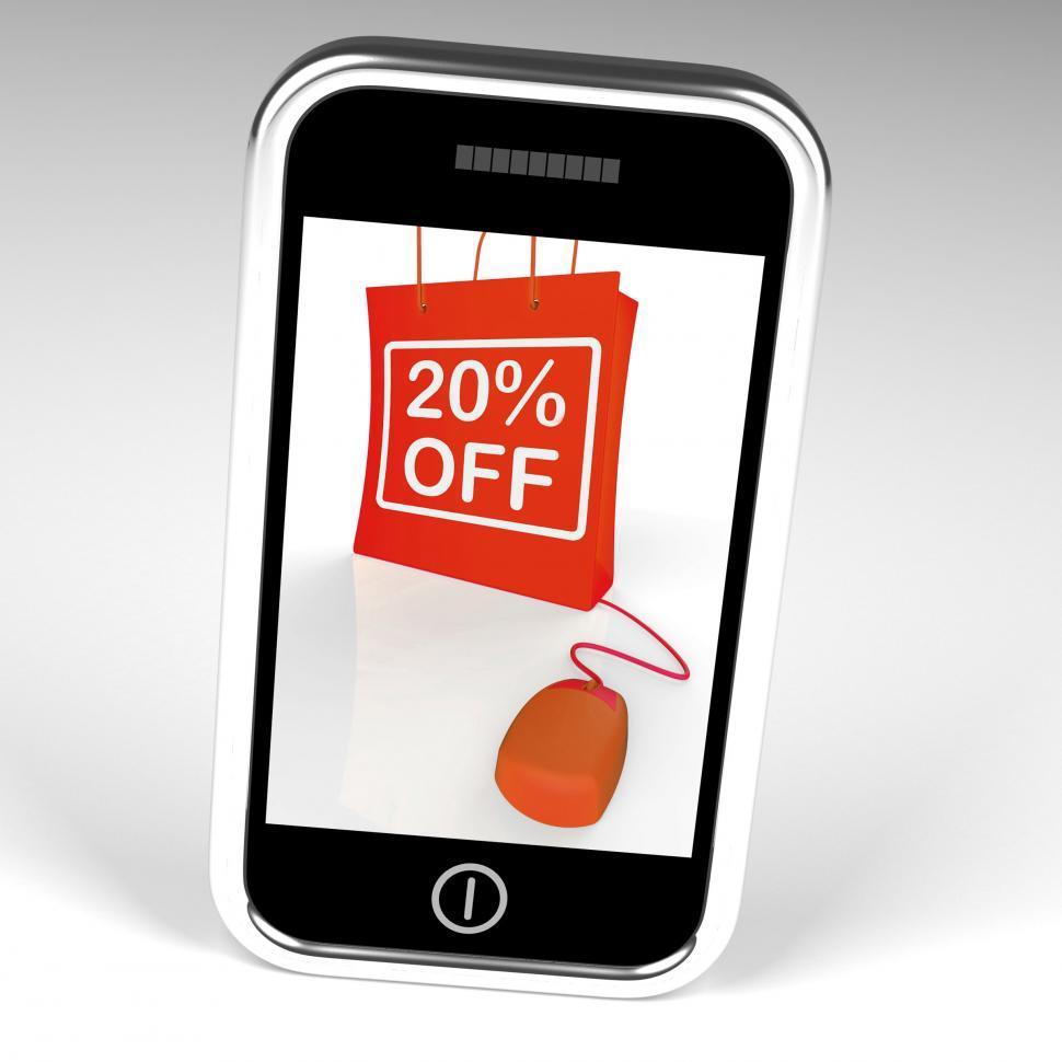 Download Free Stock HD Photo of Twenty Percent Off Bag Displays Online 20 Sales and Discounts Online