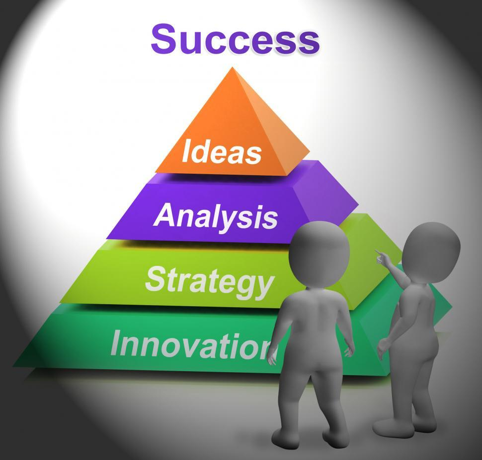 Download Free Stock HD Photo of Success Pyramid Shows Accomplishment Progress And Successful Online