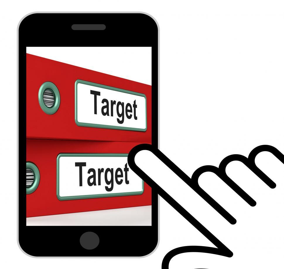 Download Free Stock HD Photo of Target Folders Displays Business Goals And Objectives Online