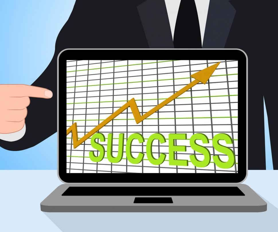 Download Free Stock HD Photo of Success Chart Graph Displays Winning Or Successful Online