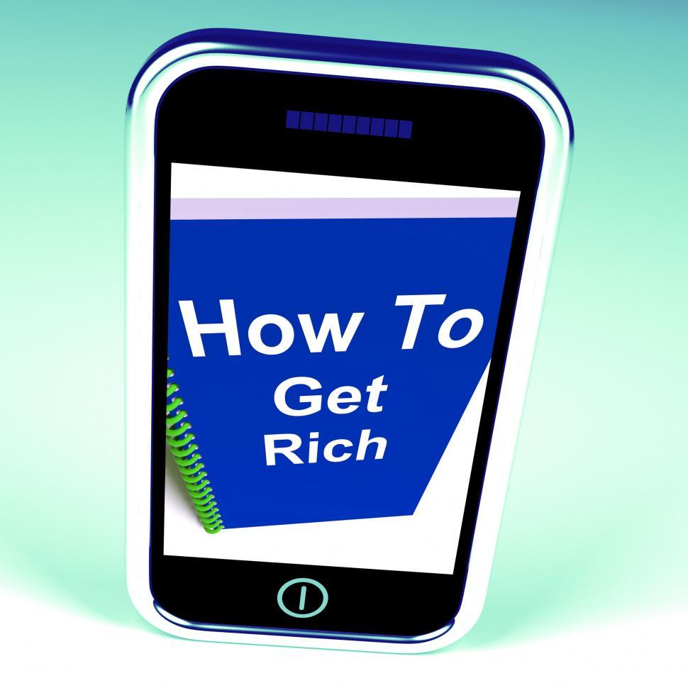 Download Free Stock HD Photo of How to Get Rich on Phone Represents Getting Wealthy Online