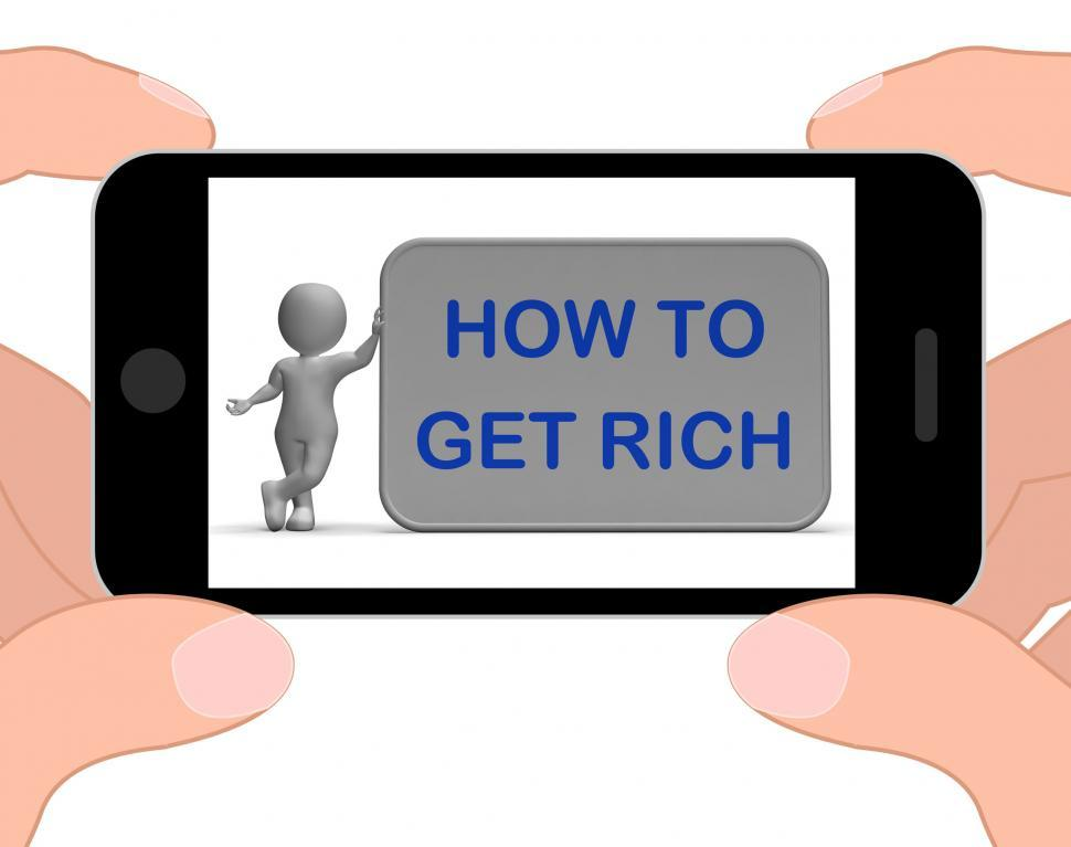 Download Free Stock HD Photo of How To Get Rich Phone Means Financial Freedom Online
