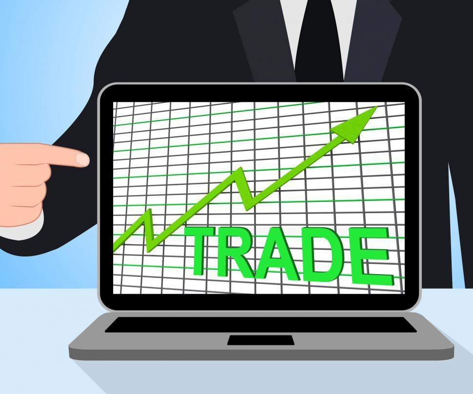 Download Free Stock HD Photo of Trade Chart Graph Displays Increasing Trade Or Trading Online