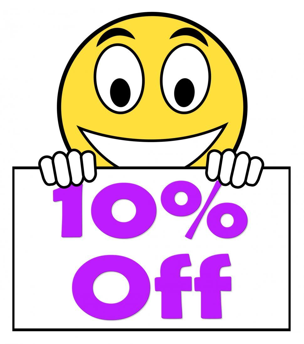 Download Free Stock HD Photo of Ten Percent Sign Shows Sale Discount Or 10 Off Online