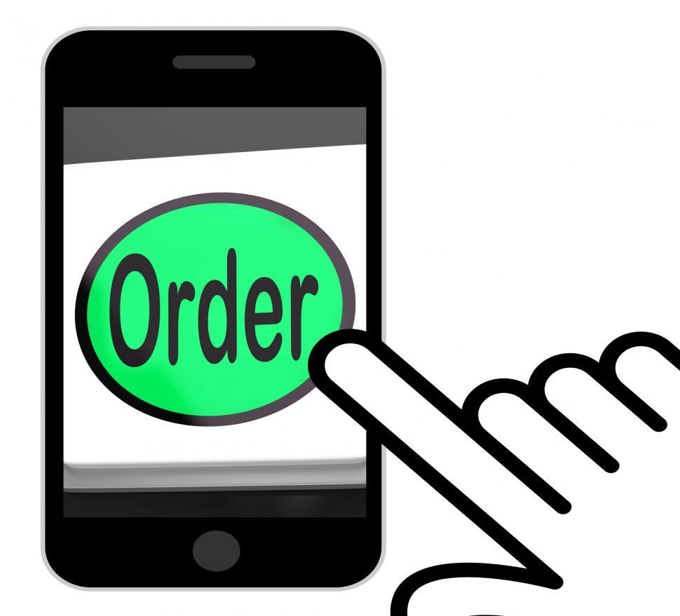 Download Free Stock HD Photo of Order Button Displays Buying Online In Web Stores Online