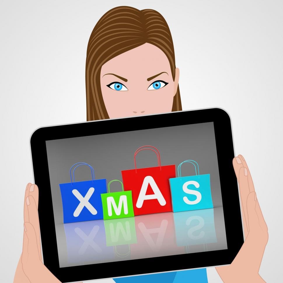 Download Free Stock HD Photo of Xmas Shopping Bags Displays Retail and Buying Online