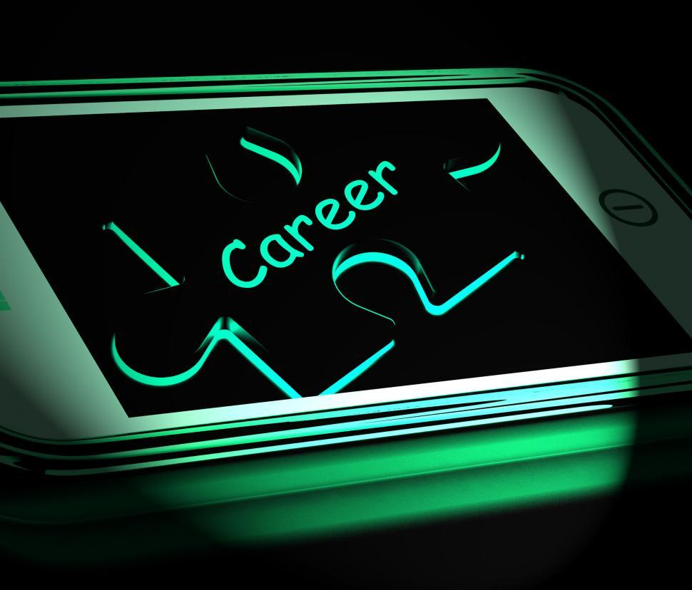 Download Free Stock HD Photo of Career Smartphone Displays Occupation Profession Or Work Online