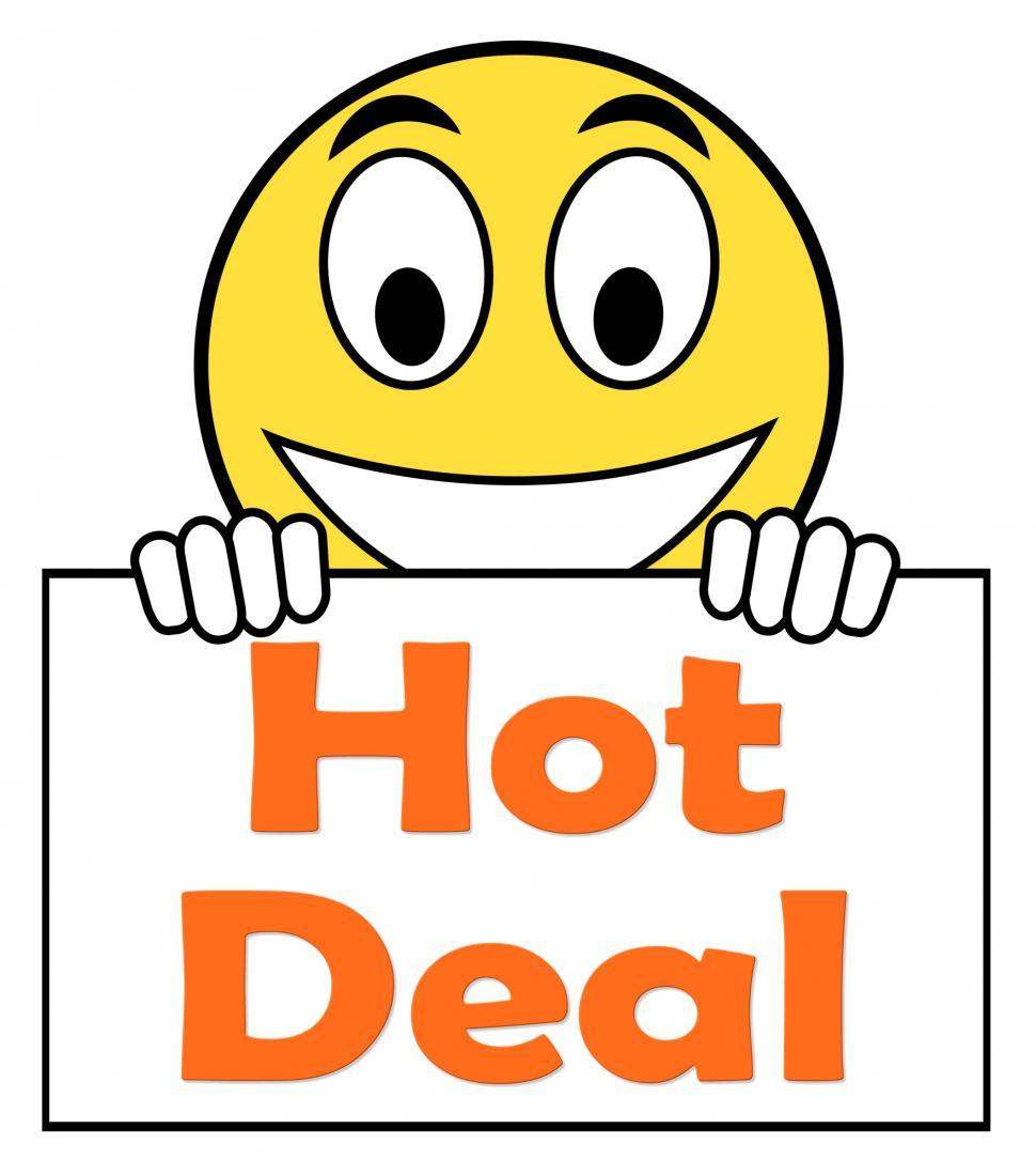 Download Free Stock HD Photo of Hot Deal On Sign Shows Bargains Sale And Save Online