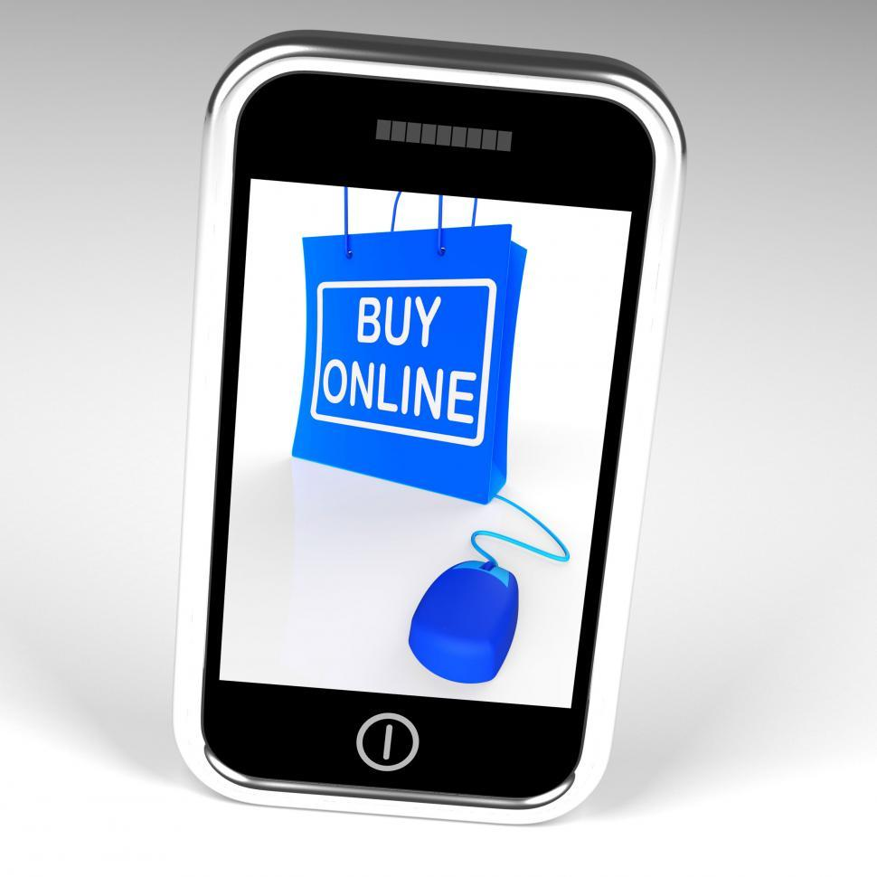 Download Free Stock HD Photo of Buy Online Bag Displays Internet Shopping and Buying Online