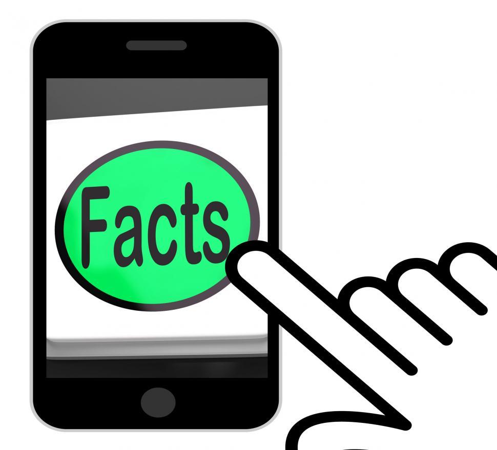 Download Free Stock HD Photo of Facts Button Displays True Information And Data Online