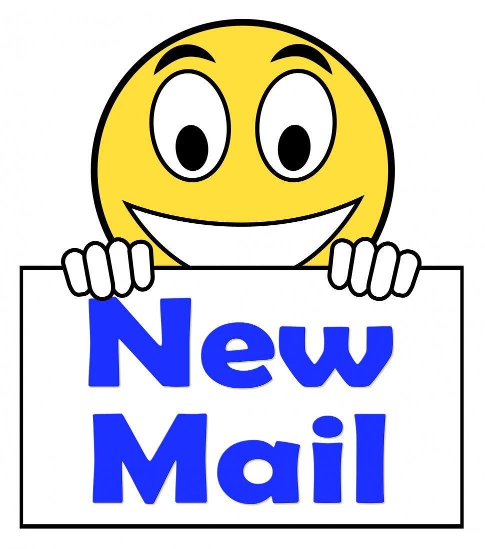 Download Free Stock HD Photo of New Mail On Sign Shows Mail Alert And Inbox Online