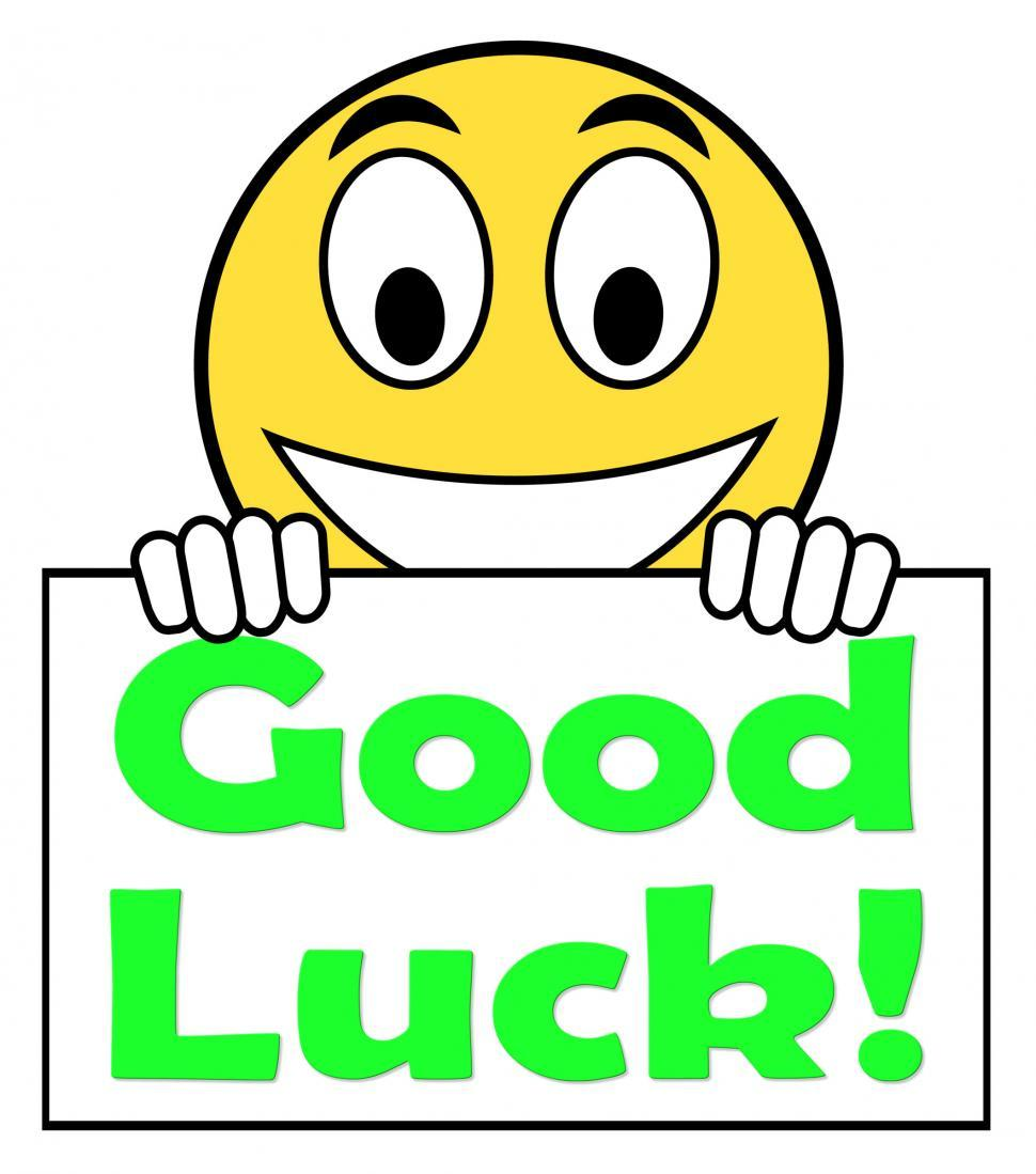 Download Free Stock HD Photo of Good Luck On Sign Shows Fortune And Lucky Online