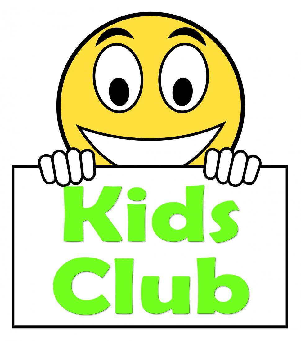 Download Free Stock HD Photo of Kids  Club On Sign Means Children s Activities Online