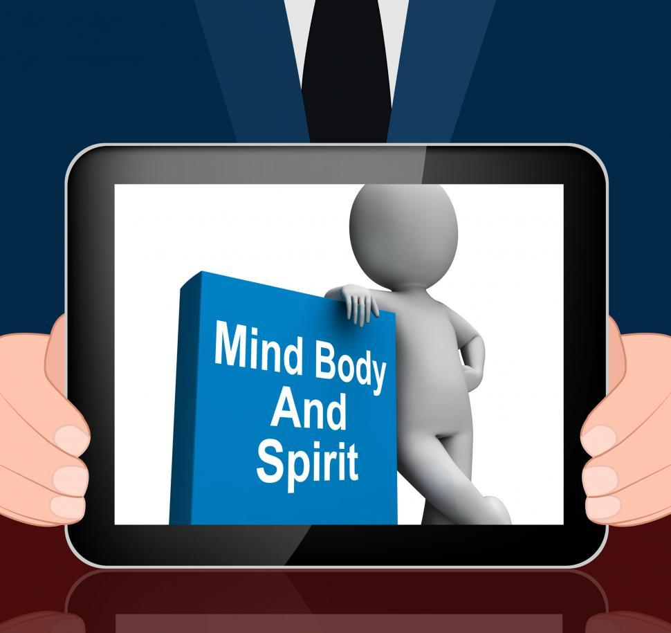 Download Free Stock HD Photo of Mind Body And Spirit Book With Character Displays Holistic Books Online