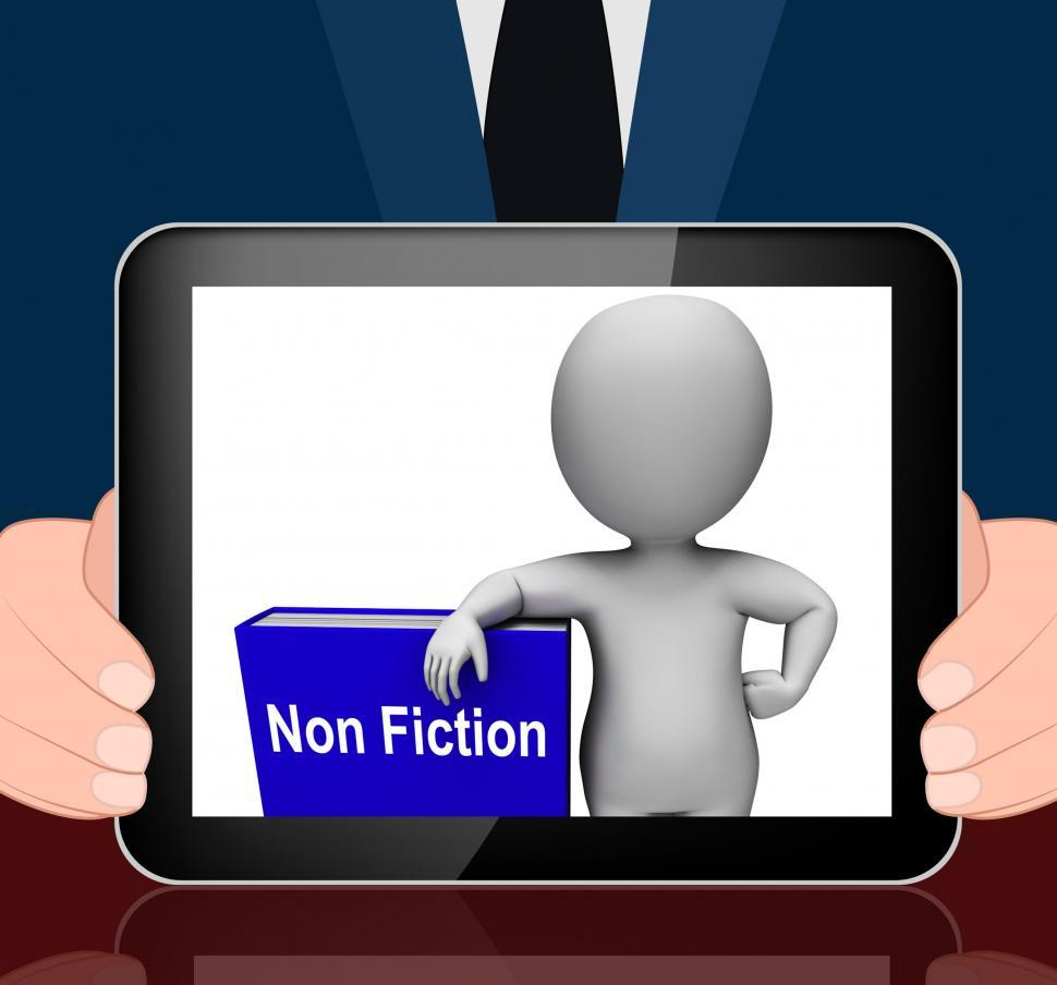 Download Free Stock HD Photo of Non Fiction Book And Character Displays Educational Text Or Fact Online