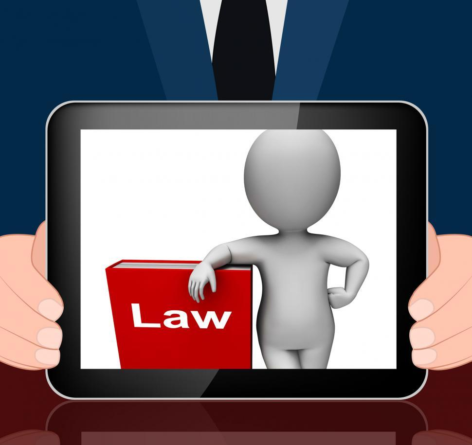 Download Free Stock HD Photo of Law Book And Character Displays Books About Legal Justice Online