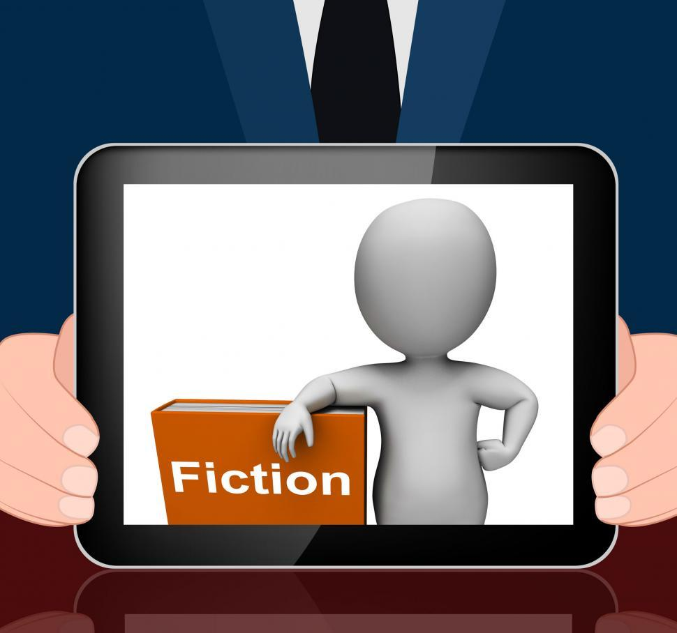 Download Free Stock HD Photo of Fiction Book And Character Displays Books With Imaginary Stories Online