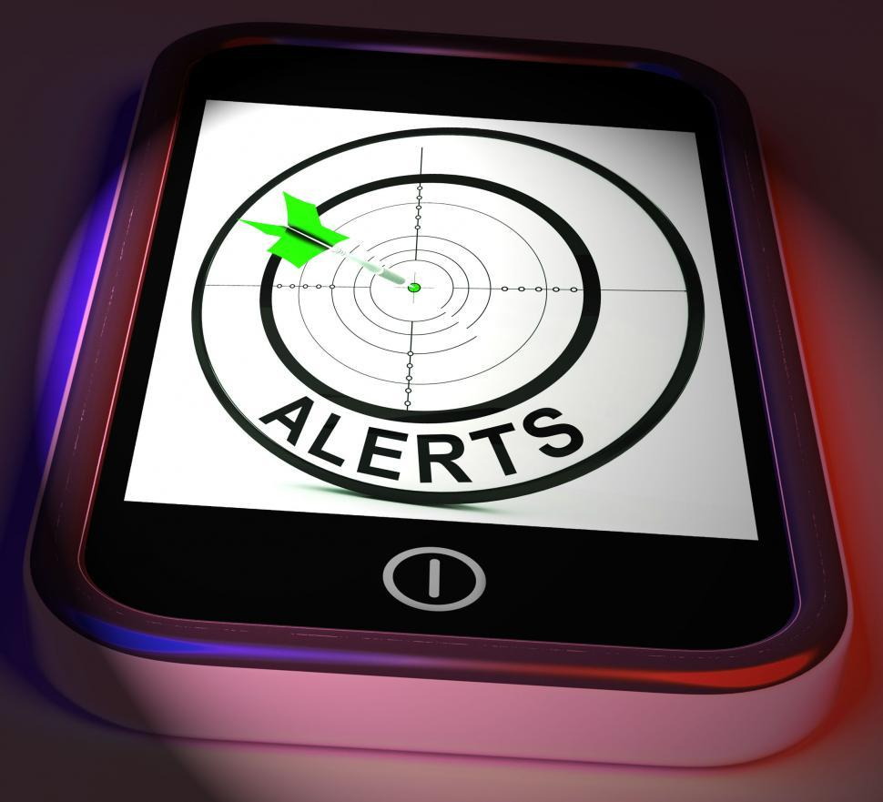 Download Free Stock HD Photo of Alerts Smartphone Displays Phone Reminder Or Alarm Online