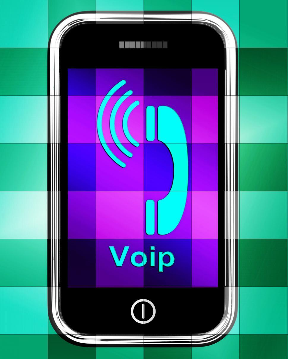 download free stock hd photo of voip on phone displays voice over internet protocol or ip