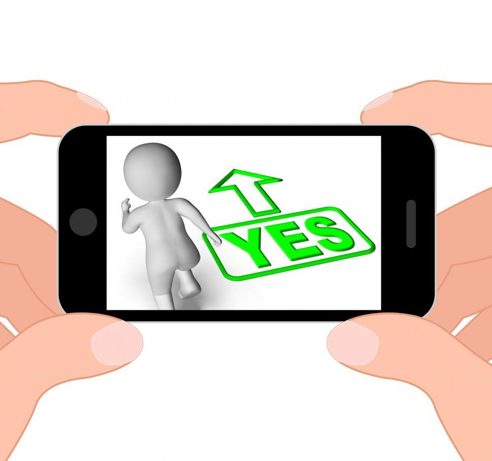 Download Free Stock HD Photo of Yes And 3D Character Displays Affirm Agree Ok Online