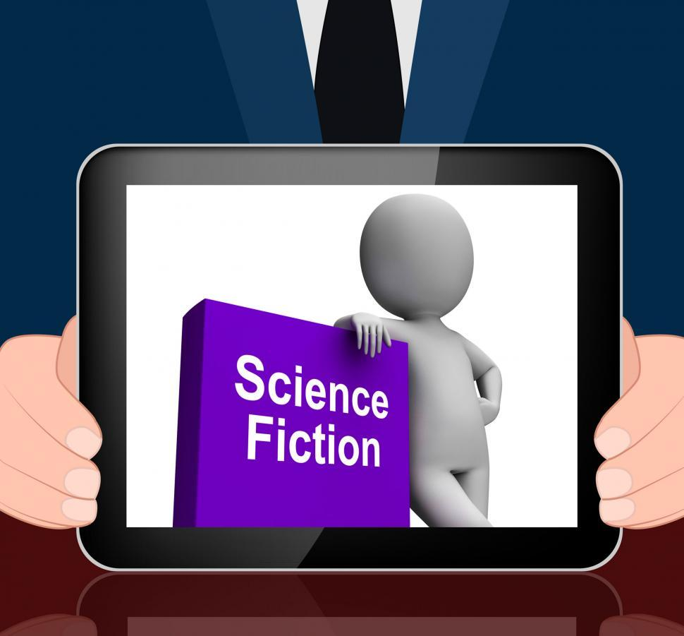 Download Free Stock HD Photo of Science Fiction Book And Character Displays SciFi Books Online