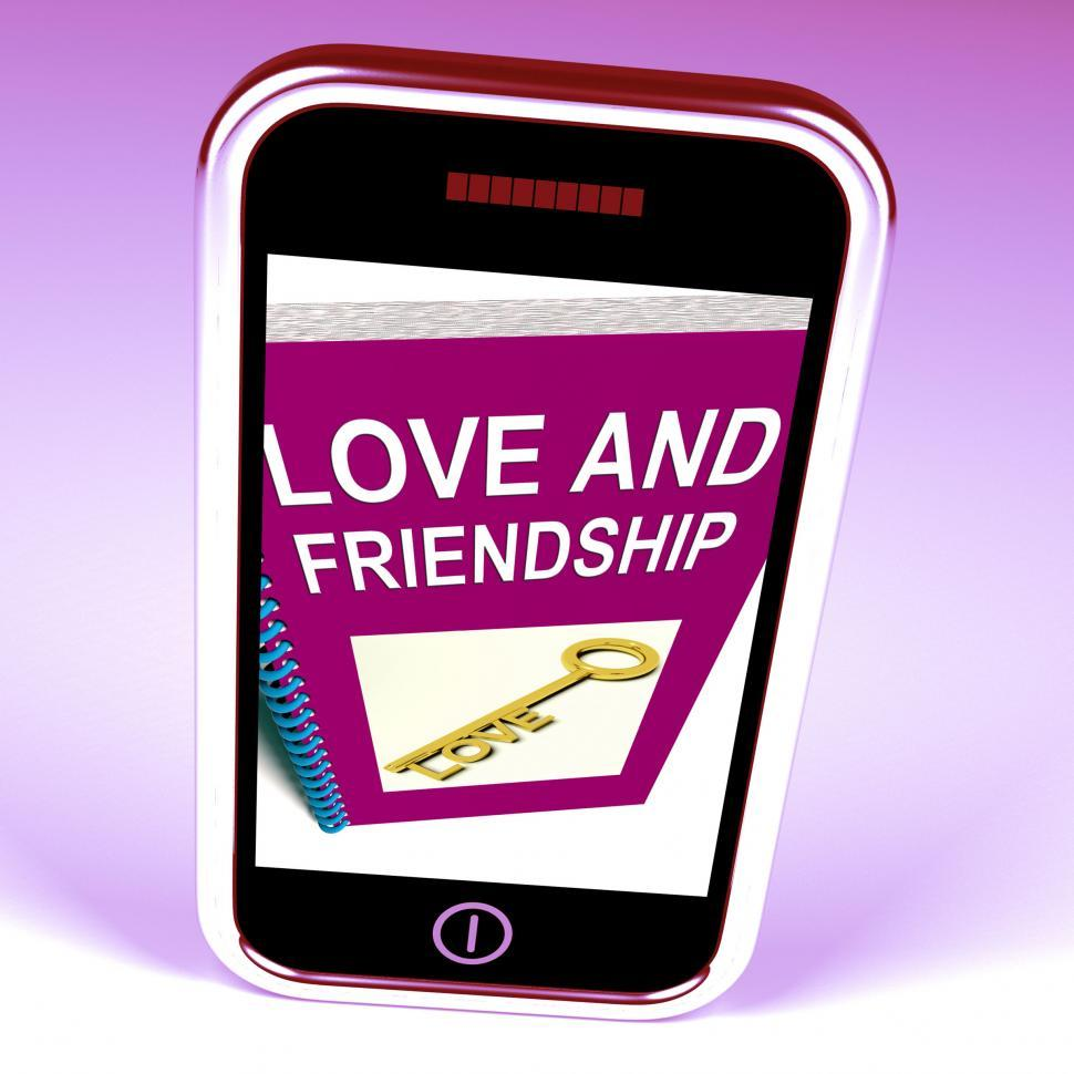 Download Free Stock HD Photo of Love and Friendship Phone Represents Keys and Advice for Friends Online
