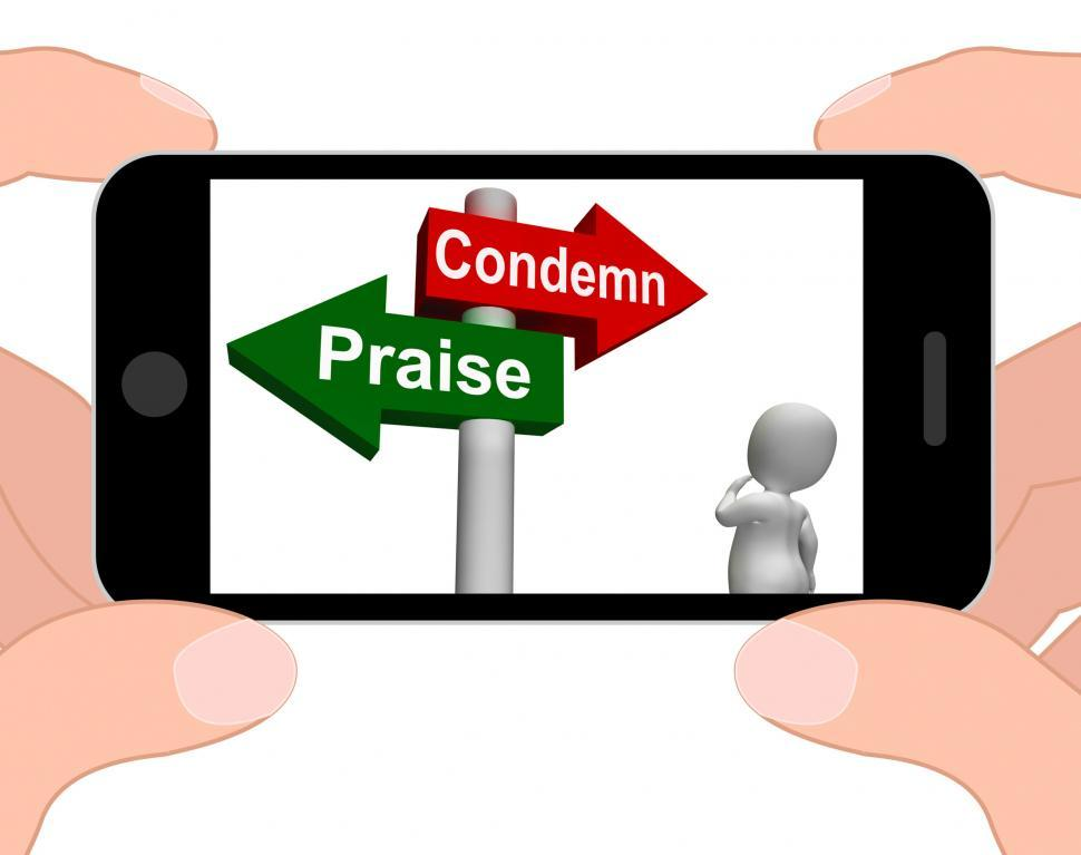 Get Free Stock Photos of Condemn Praise Signpost Displays